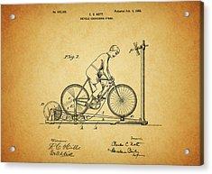1900 Bicycle Exercise Stand Acrylic Print by Dan Sproul