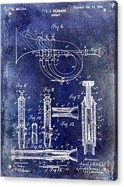 1900 Cornet Patent Blue Acrylic Print by Jon Neidert