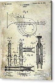 1900 Cornet Patent Acrylic Print by Jon Neidert