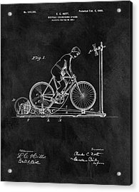 1900 Exercise Bike Patent Acrylic Print by Dan Sproul