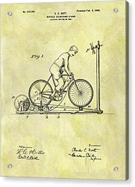 1900 Exercising Bicycle Patent Acrylic Print by Dan Sproul