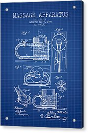 1900 Massage Apparatus Patent - Blueprint Acrylic Print