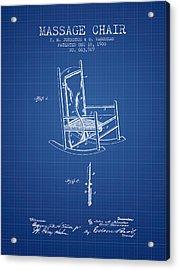 1900 Massage Chair Patent - Blueprint Acrylic Print