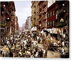 1900 View Of Mulberry Street. Acrylic Print