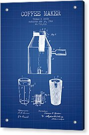 1902 Coffee Maker Patent - Blueprint Acrylic Print