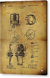 1902 Fish Reel Patent Acrylic Print