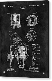1902 Fishing Reel Patent Acrylic Print