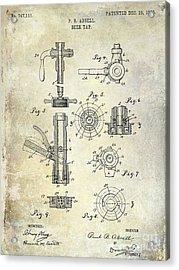 1903 Beer Tap Patent Acrylic Print by Jon Neidert