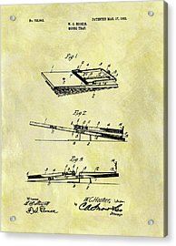 Acrylic Print featuring the mixed media 1903 Mouse Trap Patent by Dan Sproul