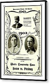 1903 World Series Poster Acrylic Print