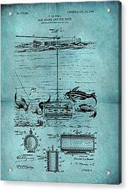1904 Fishing Bait Patent Acrylic Print