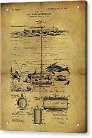 1904 Fishing Decoy Patent Acrylic Print