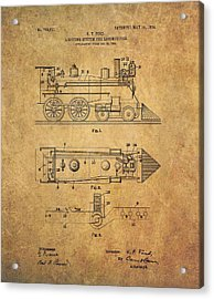 1904 Locomotive Patent Acrylic Print by Dan Sproul