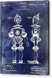 1904 Toy Patent Drawing Blue Acrylic Print by Jon Neidert