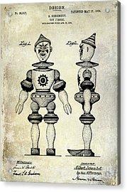 1904 Toy Patent Drawing Acrylic Print by Jon Neidert