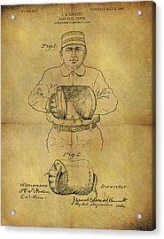 1905 Baseball Glove Patent Acrylic Print by Dan Sproul