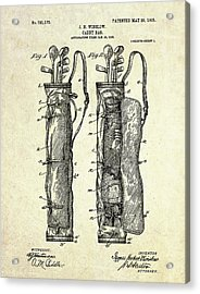 1905 Caddy Bag Patent Art S.1 Acrylic Print by Gary Bodnar