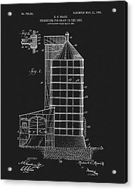 1905 Grain Silo Patent Acrylic Print