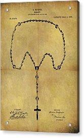 1906 Rosary Patent Acrylic Print