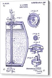 1907 Beer Tapper Patent Blueprint Acrylic Print