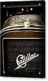 Acrylic Print featuring the photograph 1907 Cadillac Model M Touring Grille Emblem -1106ac by Jill Reger