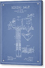 1907 Mining Salt Patent En36_lb Acrylic Print