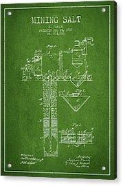 1907 Mining Salt Patent En36_pg Acrylic Print