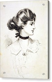 1909 Drawing By Charles Dana Gibson Acrylic Print by Everett