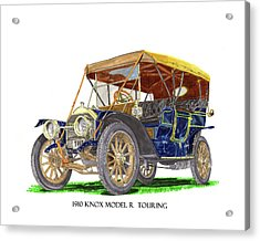 1910 Knox Model R 5 Passenger  Touring Automobile Acrylic Print by Jack Pumphrey