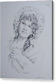 1910 Lady Acrylic Print by Wanda Dansereau
