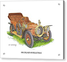 Acrylic Print featuring the painting 1911 Delaunay Belleville Open Tourer by Jack Pumphrey