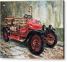 1912 Porsche Fire Truck Acrylic Print by Joey Agbayani