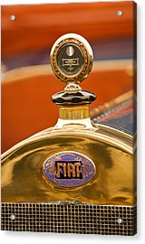 1913 Fiat Type 56 7 Passenger Touring Hood Ornament Acrylic Print by Jill Reger