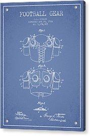 1914 Football Gear Patent - Light Blue Acrylic Print