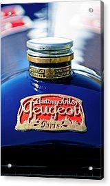 1914 Peugeot L45 Hood Ornaments Acrylic Print by Jill Reger