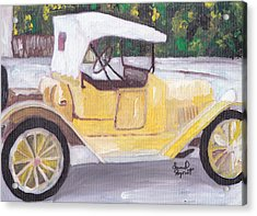 1915 Chevy Acrylic Print by David Poyant Paintings