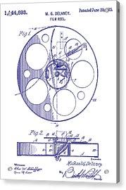 1915 Film Reel Patent Blueprint Acrylic Print