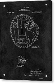 1916 Baseball Mitt Patent Acrylic Print