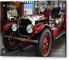 1917 American La France Type 12 Fire Engine Acrylic Print by Wingsdomain Art and Photography
