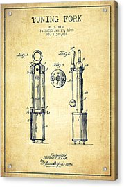 1920 Tuning Fork Patent - Vintage Acrylic Print