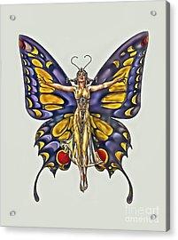 1922 Flapper Butterfly Acrylic Print by Walt Foegelle