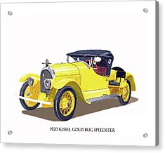 Acrylic Print featuring the painting 1923 Kissel Kar  Gold Bug Speedster by Jack Pumphrey