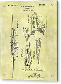 1924 Airplane Patent Acrylic Print