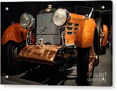 1924 Hispano Suiza Dubonnet Tulipwood . Grille Angle Acrylic Print by Wingsdomain Art and Photography