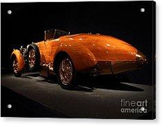 1924 Hispano Suiza Dubonnet Tulipwood . Rear Angle Acrylic Print by Wingsdomain Art and Photography