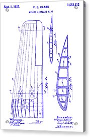 1925 Airplane Wing Patent Blueprint Acrylic Print
