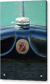 1925 Cadillac Hood Ornament And Emblem Acrylic Print by Jill Reger