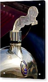 1925 Citroen Cloverleaf Hood Ornament Acrylic Print by Jill Reger