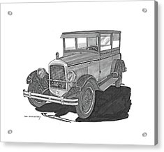 1925 Jewett 2 Door Touring Sedan Acrylic Print by Jack Pumphrey