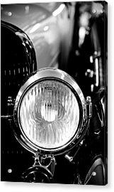 1925 Lincoln Town Car Headlight Acrylic Print by Sebastian Musial